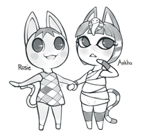 Rosie and Ankha by UltraHurtMan