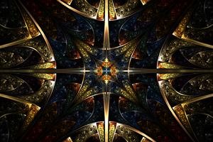 Stain Glass Star by AuraBorealis