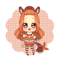 [CLOSED] Autumn Coffee Girl ADOPTABLE by Zhainy