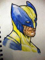 Wolverine Watercolor Sketch by IgorChakal