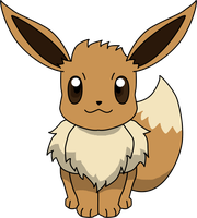 Eevee Sitting PNG by ProteusIII