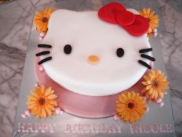 Hello Kitty Cake 2 by Sliceofcake