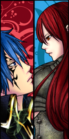 erza y jellal by escarter69