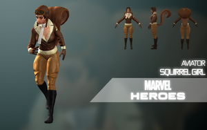Marvel Heroes: Squirrel Girl (Aviator) by LEMOnz07