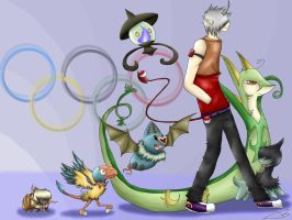Pokemon at the Olympics by Kikitwou