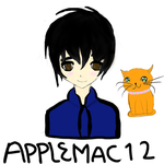 a little drawing for Applemac12 FIXED IT by IceeRiceeBunee
