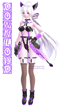 (MMD) Tda Cyber Kitty Haku Download {v1.1} by MiyukiOhayashi