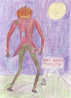 Evil Scarecrow........in color by DanielTheDementedOne