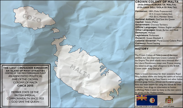 Map of the Crown Colony of Malta (Rev! Redux) by KitFisto1997