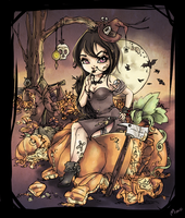 Cutie Pie Halloween Coloring Contest by monobani