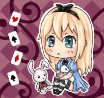 Alice in Wonderland Chibi by Kirwet99