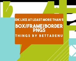 Box/Frame/Border PNG Pack #1 by bettadenu