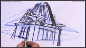 Learn how to draw city buildings 029 by drawingcourse