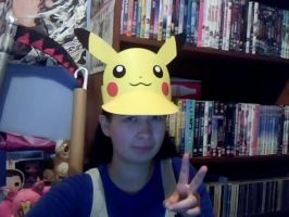 Me with my Pikachu Hat by Londonexpofan