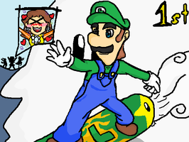 Luigi goes for the gold by luigi2cool