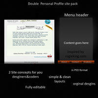 Personal site concepts by TheGraphicGeek
