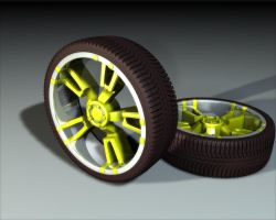 C4D Rims 'n' Tires by stefitms