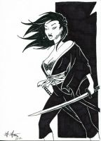 Sketch Card - Deadly Little Miho by Indy-Lytle