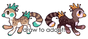 draw to adopt peacats! by RRRAI