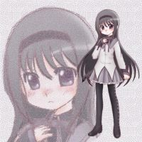 Coloring of Homura Akemi by chindefu
