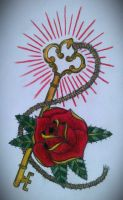 key and rose by swetattoo