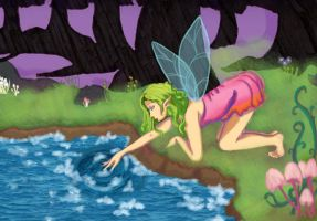 Fairy Forest w/ Water by xSerenityLove