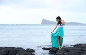 Posing in front of Coin de Mire Island by ChanelStudio
