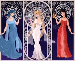 Princess Serenity, Ami, and Rei by tokyogirl0093