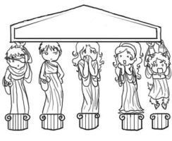 Muses Background line art by Thatu