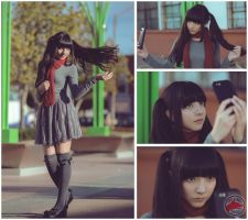 twintails photoshoot theme by @fanored by FanoRED
