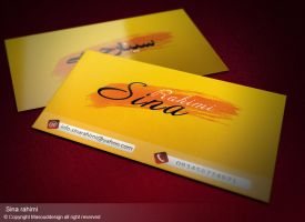 SinaRahimi BusinessCard by masouddesign
