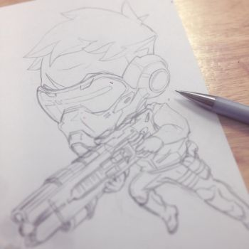 Overwatch Soldier76 (Sketch) by shomin96