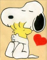 Snoopy Hearts Woodstock by Zolena