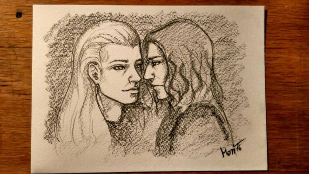 Lucius and Severus by LazyMori