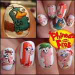 phineas and ferb nails by JawsOfKita-LoveHim
