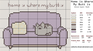 [[FREE Pattern]] Home is Where My Butt is by cathartic-dream