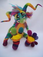 Magic Rainbow Pinwheel Goblin. by Tanglewood-Thicket