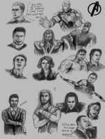 Avengers sketch dump by lrguy