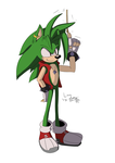 Manic The Hedgehog by ExcelsiorTheHedgehog
