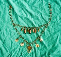 Steampunk and Ammo Necklace by pwcca87