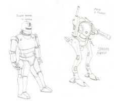 Mechs and Power Armor: Know the diference by Imperator-Zor