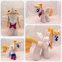 OC Sailor Moon My Little Pony Plush OOAK by Aleeart7