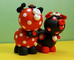 Meet Ladybug and Lil' Hobbie by rainieone