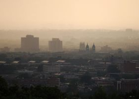 Montreal from Mount Royal by ArianaC