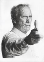 Clint Eastwood by IrisaHitchens