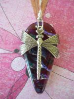 Dragonfly Drop Fused Glass by FusedElegance