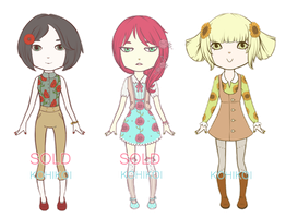 Auction Set [1] Floral Girls - [ONE LEFT] by KOHIKOI