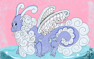 Fog Dragon in Paint by Ruby-Orca-616