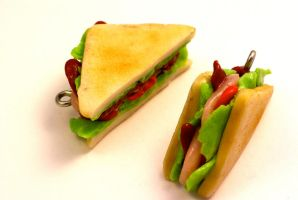 Polymer Clay Sandwich Charm by TooGoodToEat