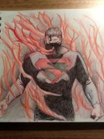 Pencil superman, kingdom come style by Scottheneghan